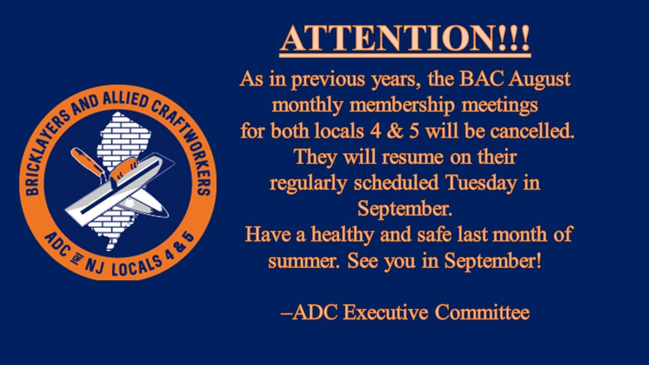 BAC August Monthly Membership Meeting – Cancelled